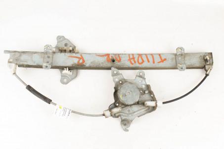 Стеклоподъёмник передний правый электр (без моторчика) Nissan Tiida (C11) 2007-2013  (3220)
