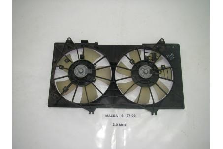 Диффузор с вентиляторами комплект Mazda 6 (GH) 2008-2012 LF4515025D (4355)