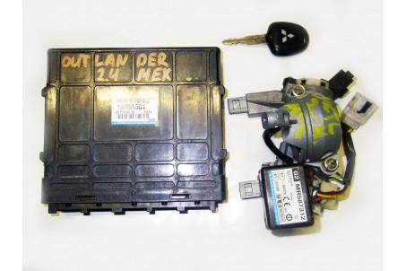Блок управления двигателем комплект 2.4 МКПП Mitsubishi Outlander (CU) 2003-2008 1860A601 (14136)
